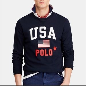 Ralph Lauren Polo USA navy sweatshirt XXL NWT